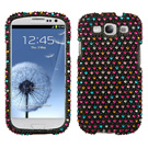 Samsung Galaxy S3 MyBat Sprinkle Dots Bling Case