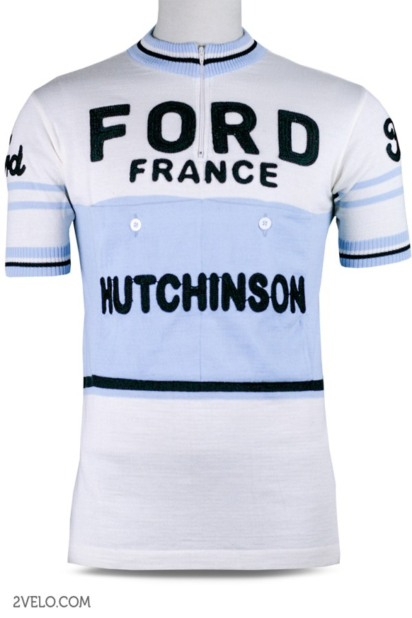 Ford France Hutchhinsons, 1950 vintage retro cycling, maglia ciclismo 2velo