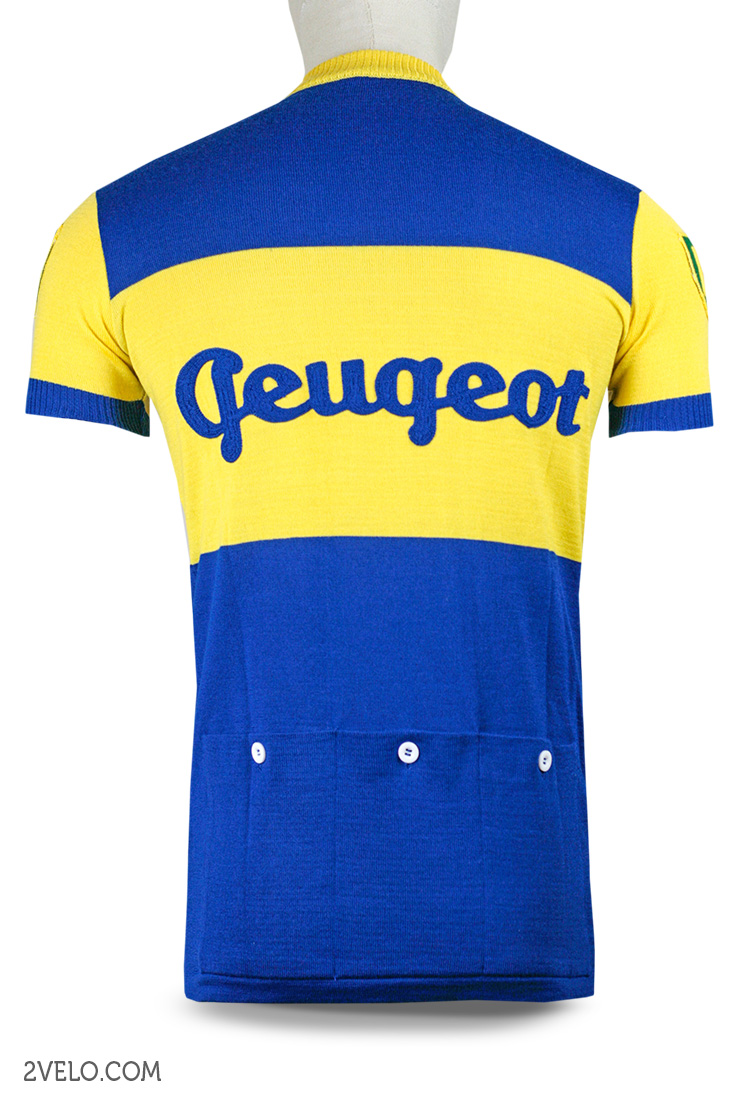 PEUGEOT BP early 60s - cycling wool jersey - 27aa04ad3