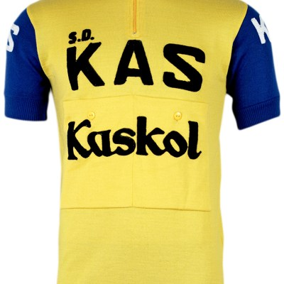 KAS Kaskol - wool cycling jersey with chainstitch embroidery