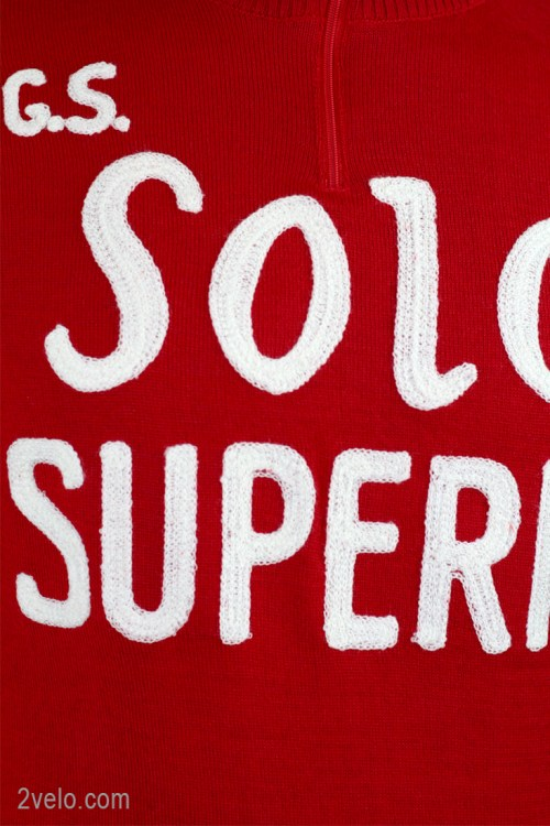 Solo Superia, vintage style merino wool jersey, chainstitch embroidery