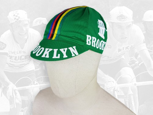 Brooklyn green cycling cotton cap 2VELO