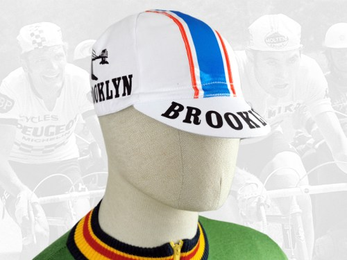 Brooklyn white cycling cotton cap 2VELO