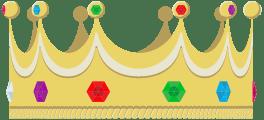 gouden kroon voor een kroonjaar