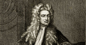 Sir Isaac Newton sees gravity cancelled