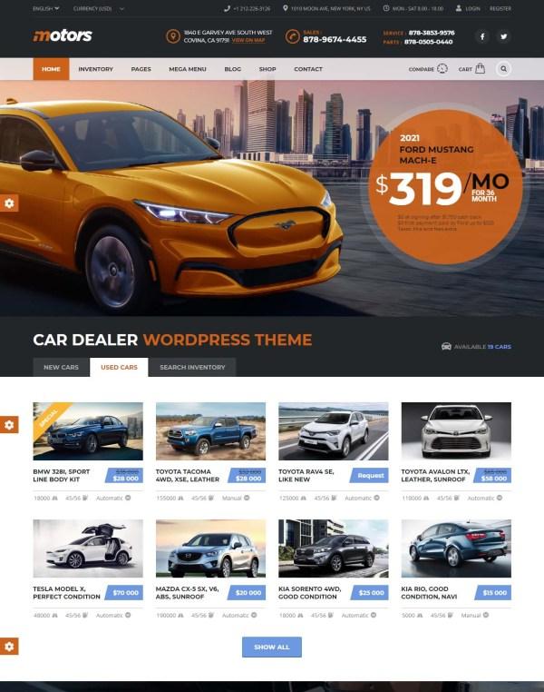 Готовый сайт купить автодилера