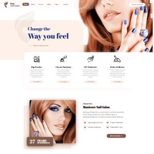 Сайт салона красоты и маникюра