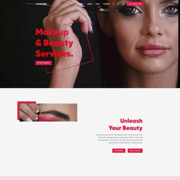 Сайт для салона красоты и макияжа