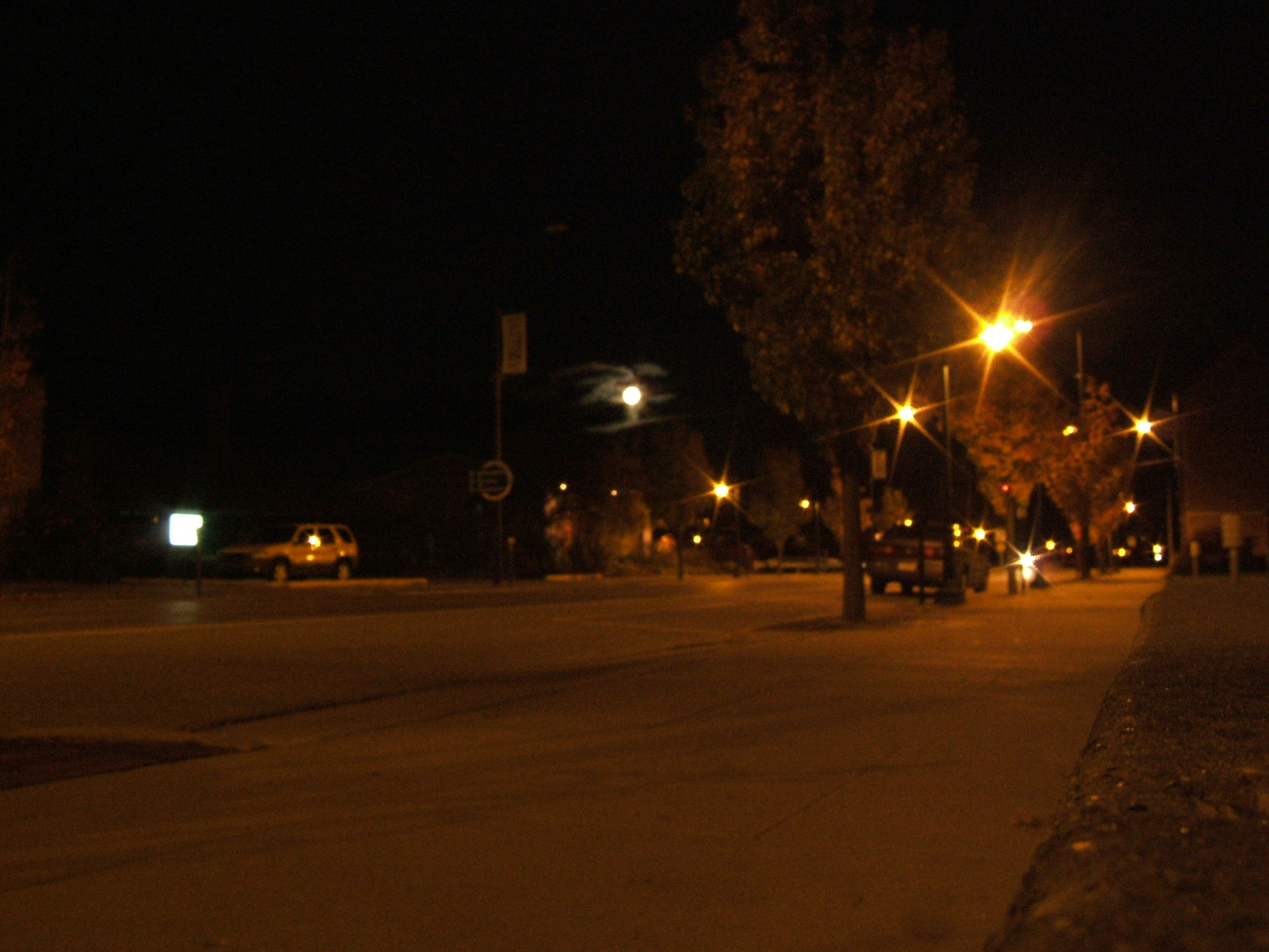 Moon rising over State Street