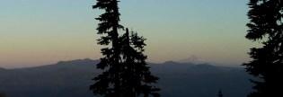 Evening view of Mt. Hood.