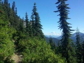 Mt. Rainer on my way around Shark Rock.