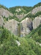 Waterfall with rainbow.