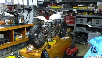 Mule Motorcycles garage workshop