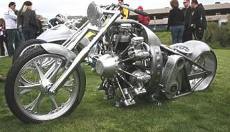 Jesse James' radial engine motorcycle