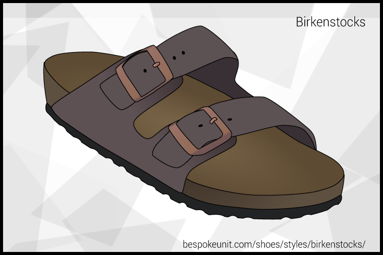Grey And Green Birkenstock Sandal