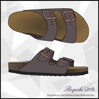 Top And Side View Of Birkenstock Sandal