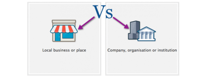When to use a facebook local business page vs a company page malvernweather Choice Image