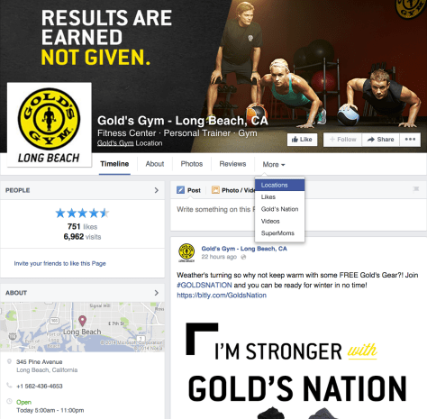 Facebook page: Gold Gym Long Beach