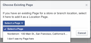 choose an existing page
