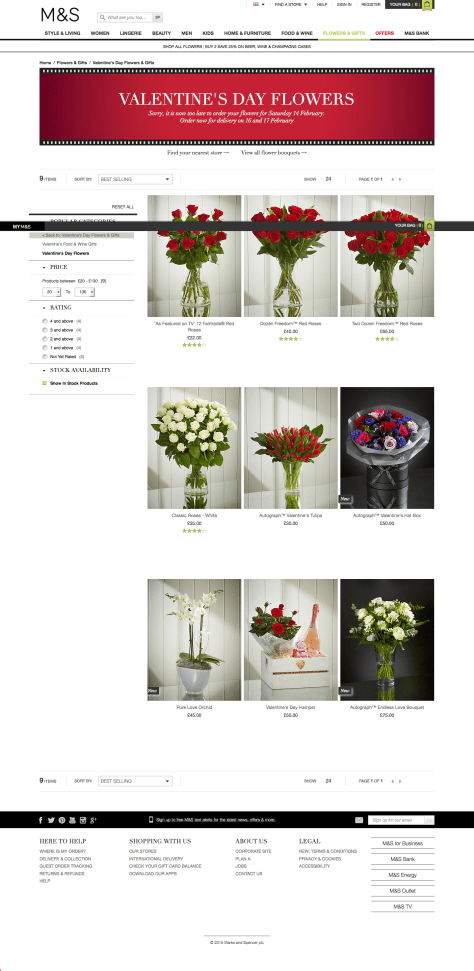 Valentine's Day Flowers | Free Delivery | M&S 2015-02-14 16-02-20