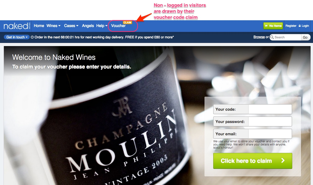 Naked wines marketing strategy customer acquisition retention buywineonlinenextdaydeliverynakedwines fandeluxe Choice Image