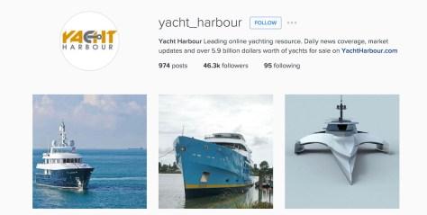 yacht harbour instagram