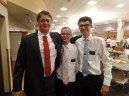 Elder Walker with Elder Bacarrini (middle) from our ward