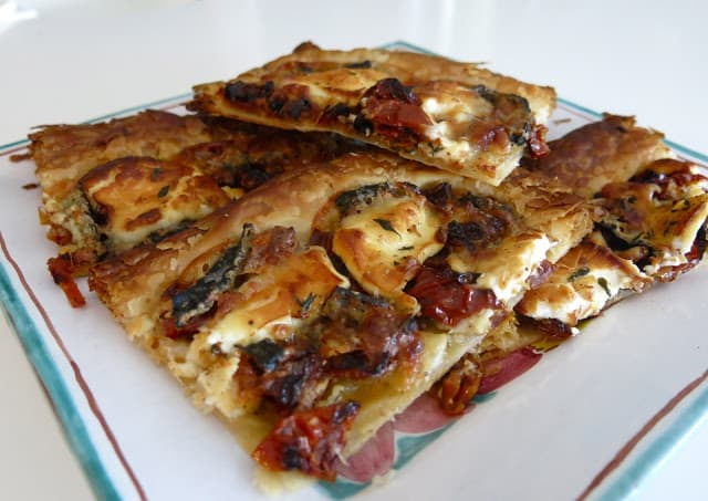 Monte Enebro Goat's Cheese and Sun Dried Tomato Tart