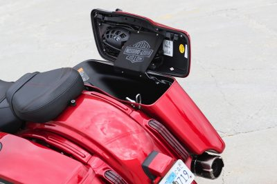 2019 Harley-Davidson CVO Road Glide bag storage capacity