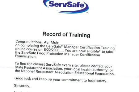 Free Example Letter » servsafe alcohol exam answers | Example Letter