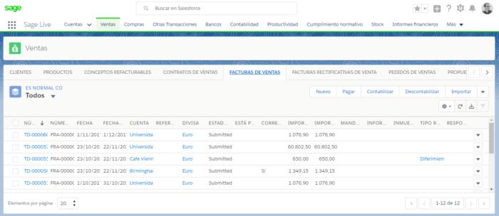 Sage Live - Contabilidad para Salesforce