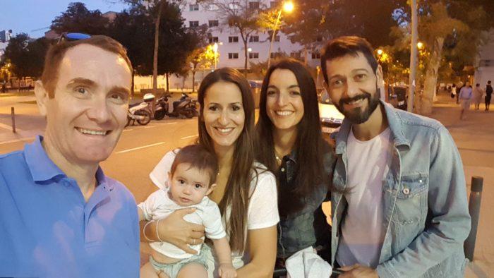 De izquierda a derecha: yo, Pol, laura, Anabel y Toni