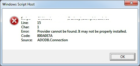 SOLVED: Provider cannot be found  It may not be properly installed