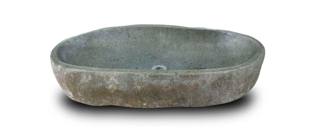 large river rock granite bathroom sink stone wash basin