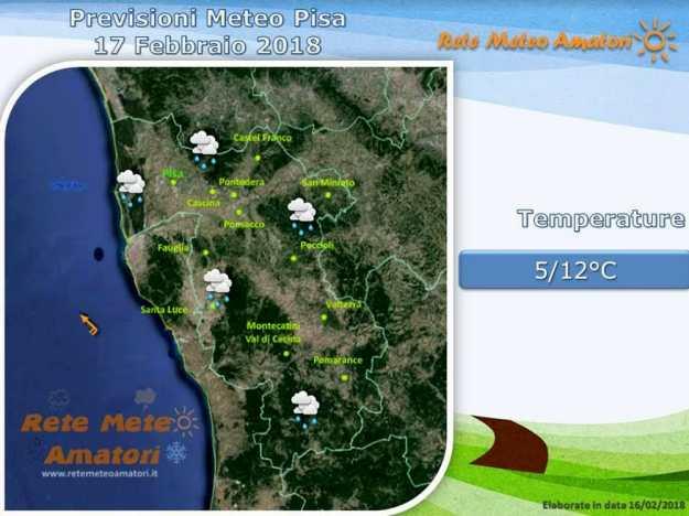 Previsioni meteo a Pisa: un weekend di maltempo