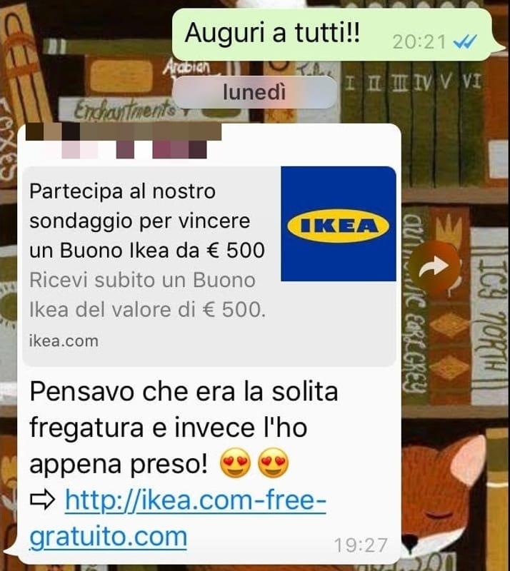 Buono Ikea 500 Euro Whatsapp Catena Di Santantonio