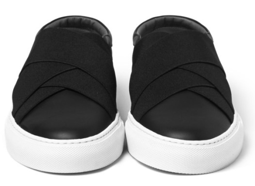 Givenchy - Elasticated-Strap Leather Slip-On Sneakers-2