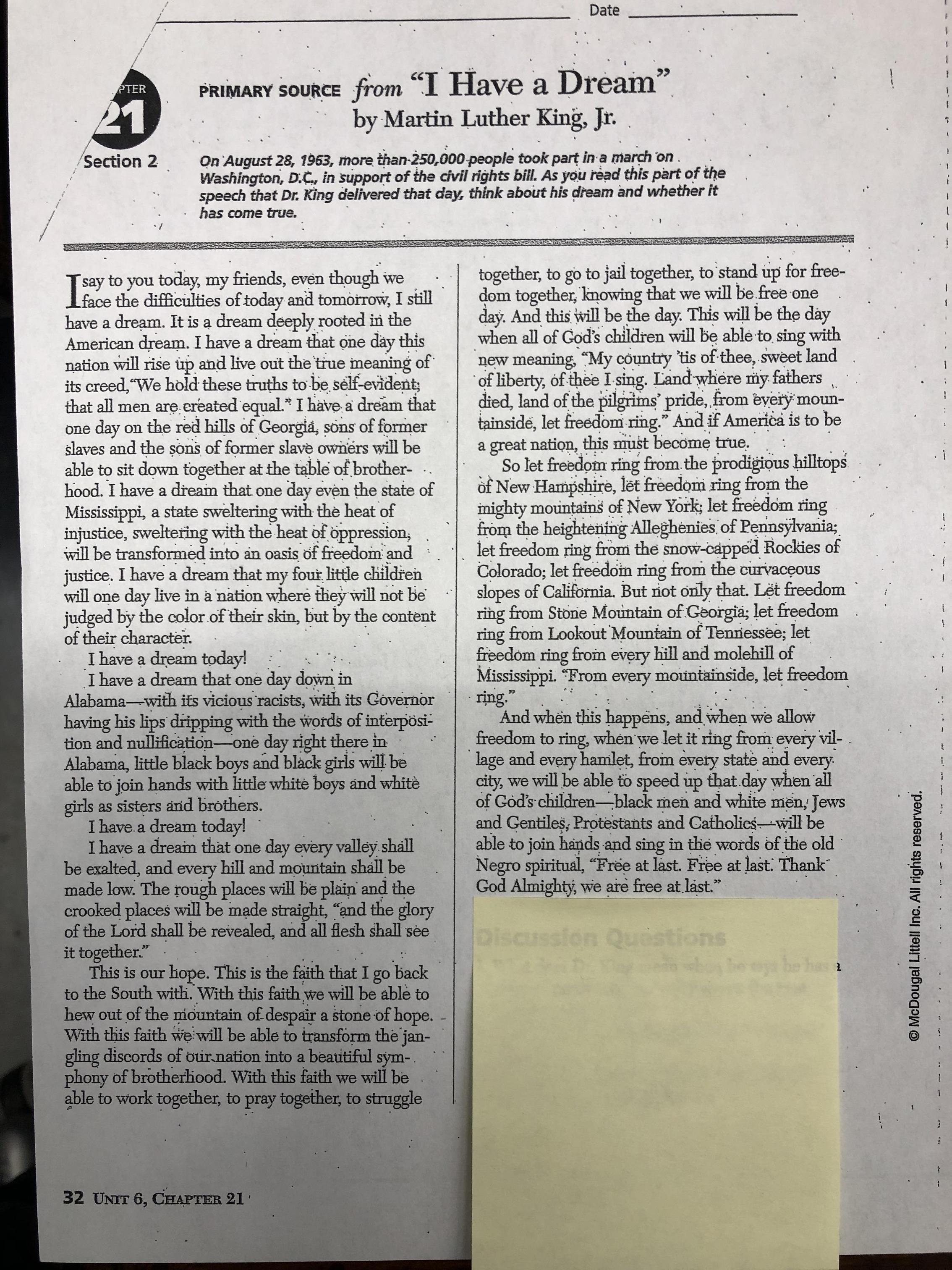 America The Story Of Us Civil War Worksheet Answers