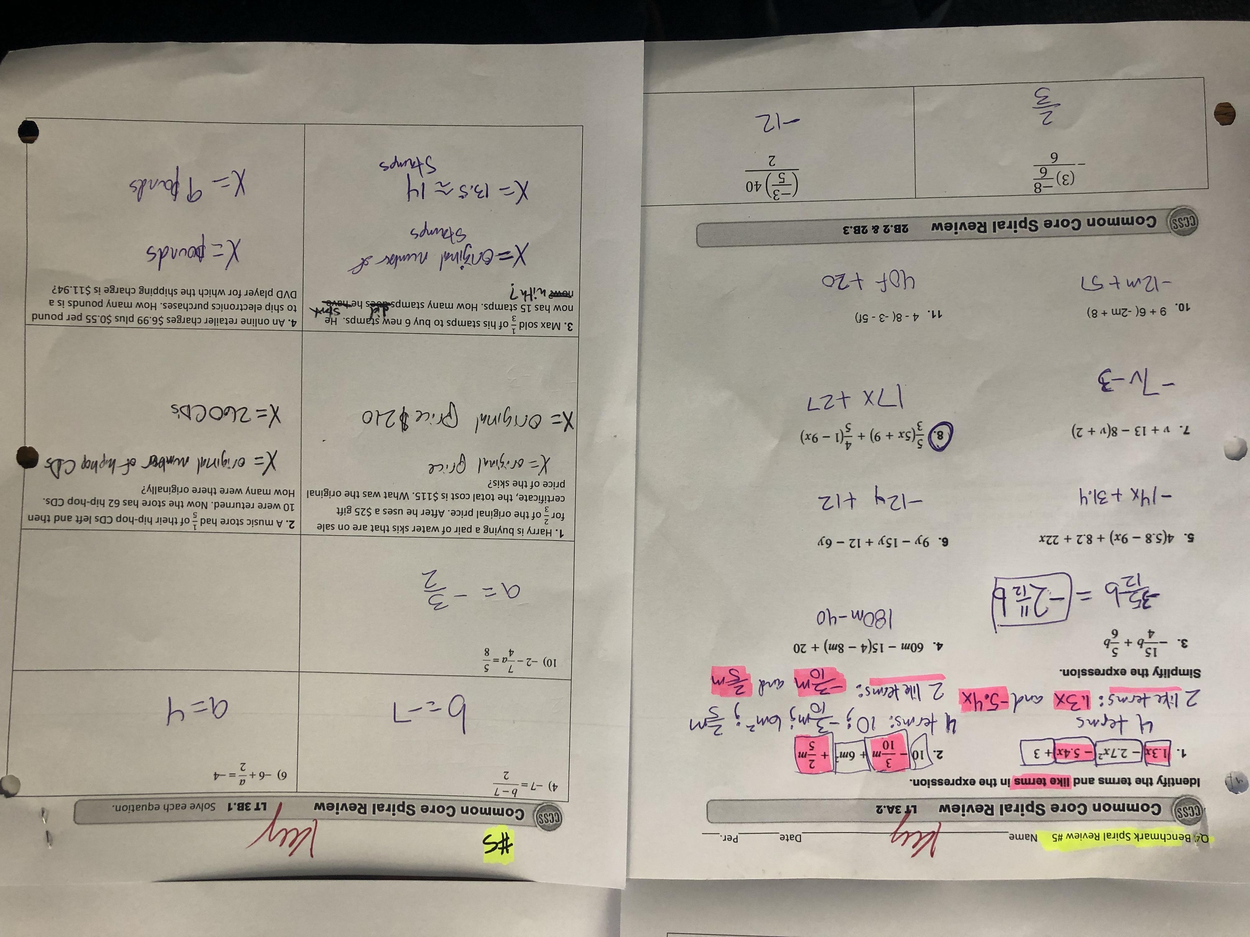 Perimeter Circumference And Area Unit Common Core 7 G4 G6 7th