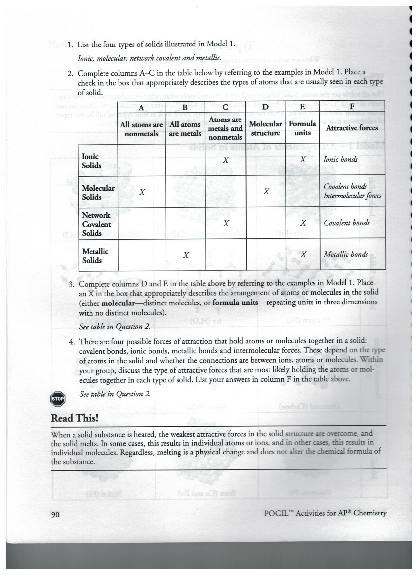 Naming Ionic Compounds Worksheet Pogil My Worksheet
