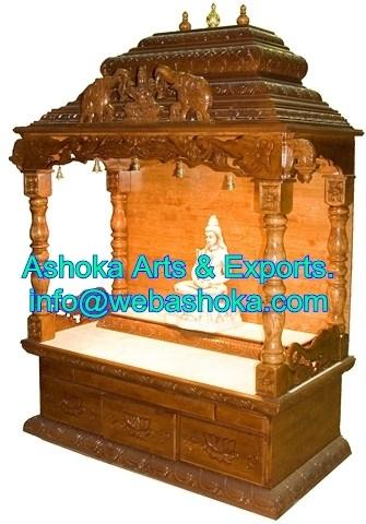 Stunning Wooden Pooja Mandir Designs For Home Pictures Interior