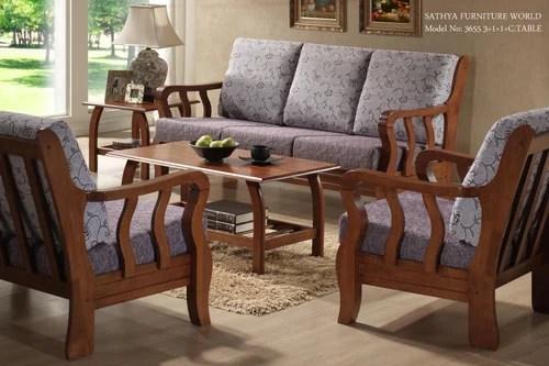 Brown As Per Requirement Teakwood Sofa Set