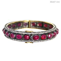 Ruby Pave Diamond Bracelet Jewelry