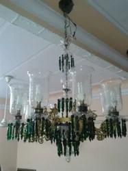 Antique Brass Light Chandelier