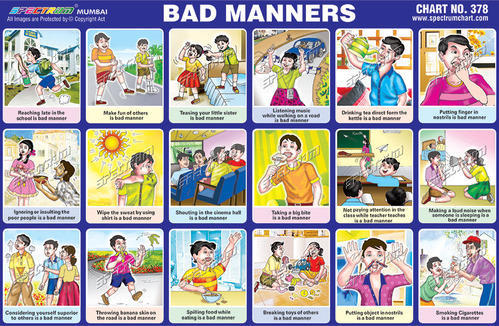 good and bad manners for kids Kids