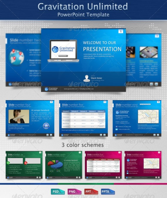 Gravitation Unlimited PowerPoint Template