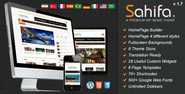 Sahifa - Responsive WordPress News,Magazine,Blog - ThemeForest Item for Sale