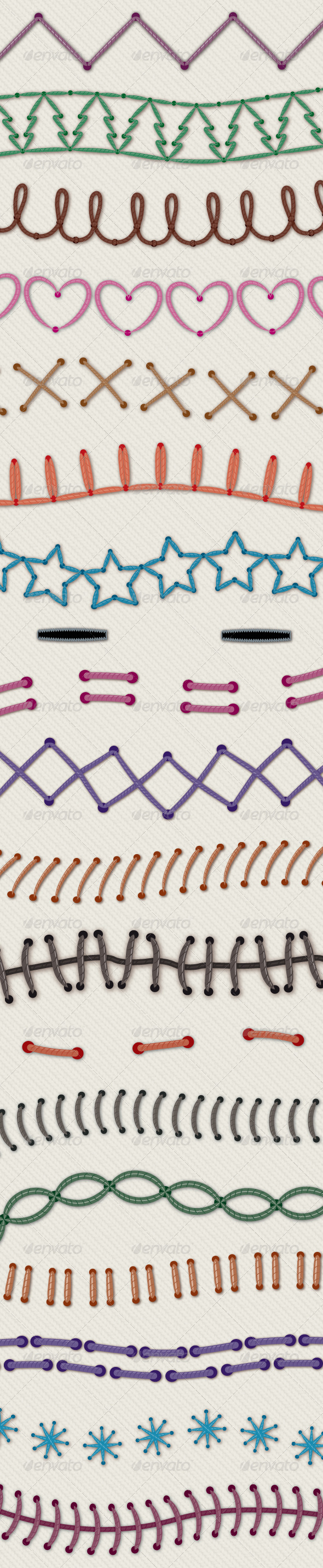 Novelty Illustrator Stitch Brushes