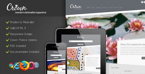 Crown - Modern Minimalist WordPress Theme - ThemeForest Item for Sale
