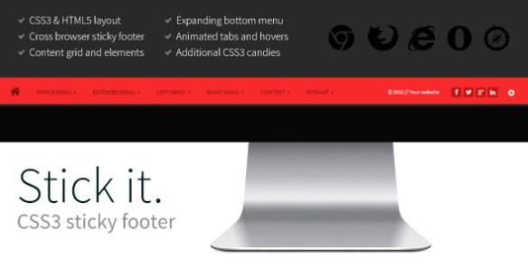 Stick it. HTML5 & CSS3 Sticky Footer